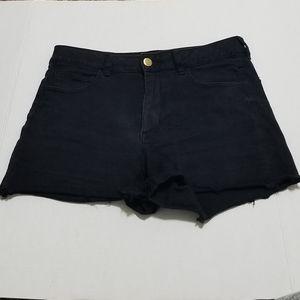 American Eagle 14 Hi-Rise Shortie Black Shorts